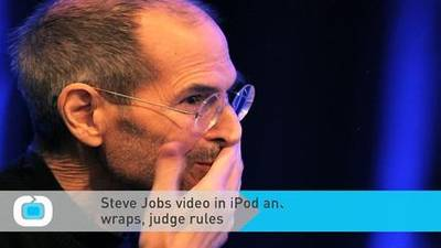 News video: Steve Jobs Video in iPod Antitrust Suit Stays Under Wraps, Judge Rules